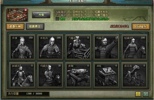 热血三国2:兵种