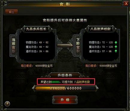 百战沙城官衔系统
